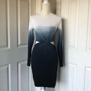 Forever 21 Blue Ombré Jersey Knit Dress cutout